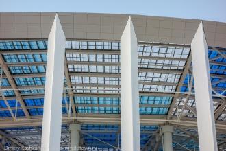 Стадион Нижний Новгород. Колонны, поддерживающие крышу