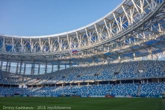Стадион Нижний Новгород. Фото с уровня газона