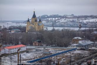 Территория стадиона, Собор Александра Невского на Стрелке