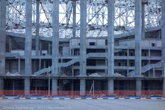 Новый стадион на Стрелке. Фрагмент фото от ТЦ Седьмое небо