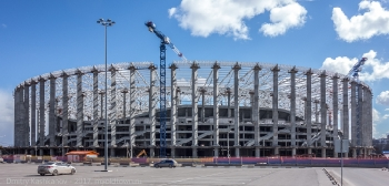 Новый стадион на Стрелке. Фото от ТЦ Седьмое небо