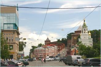 Кожевенная улица и Ивановский съезд. Фото Нижнего Новгорода