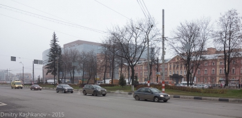 Площадь Лядова. ТРЦ Небо и общежитие политеха №2