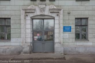 Главный вход в студенческое общежитие Нижегородского технического университета