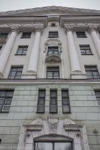 Фасад здания студенческого общежития №1 Нижегородского политеха