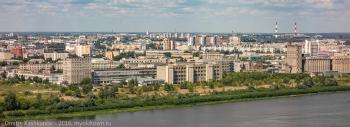 Заречная часть Нижнего Новгорода. Вид с Окского съезда