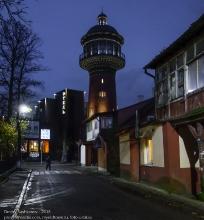 Зеленоградск. Водонапорная башня. Вечернее фото