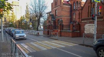 Зеленоградск. Пешеходный переход со светящейся зеброй