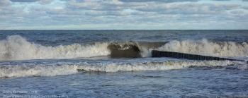 Зеленоградск. Берег Балтийского моря. Высокие волны