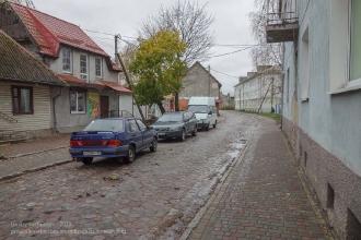 Багратионовск. Старые дома в дождливый день