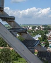 Подъем на Преподобенскую колокольню в Суздале. Опасная лестница. Фото