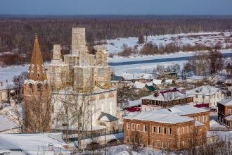 Гороховец. Реставрация Благовещенского собора. Фото 2018 года