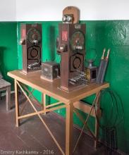 Телеграфный аппарат на железнодорожной станции. Фото
